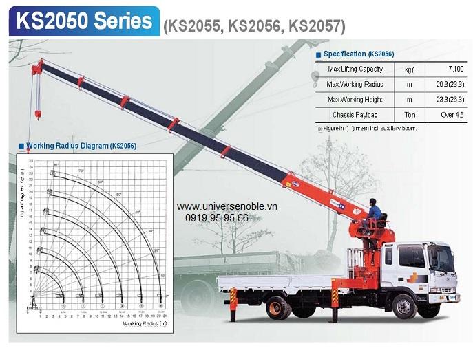 Cẩu Kanglim 7 tấn KS2056