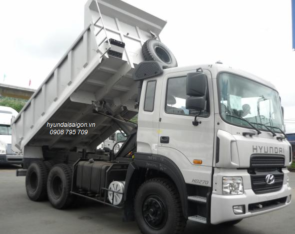 Xe ben 15 tấn Hyundai máy cơ ga điện HD 270