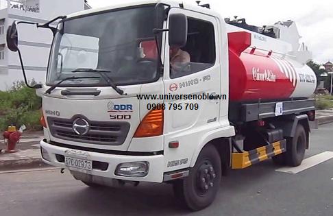Xe bồn 11 khối Hino FG8JJSB chở xăng dầu