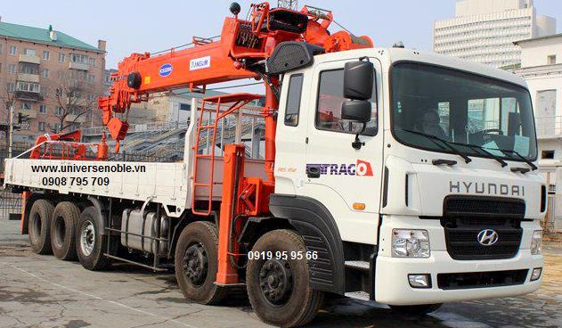Xe tải cẩu 15 tấn Kanglim KS5206 Hyundai 5 chân HD360