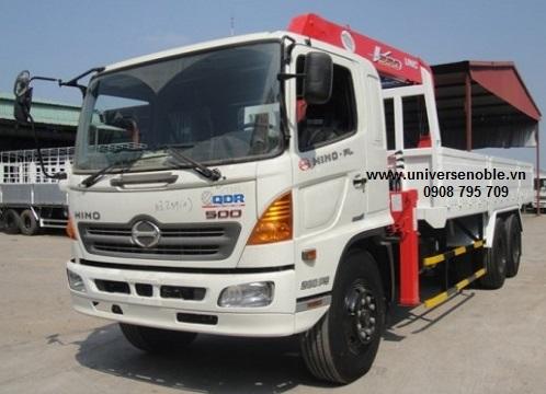 Xe tải Hino 16 tấn FL gắn cẩu Unic 5 tấn UR-V555
