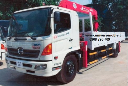 Xe tải Hino 8 tấn FG gắn cẩu Unic 5 tấn V550 4...