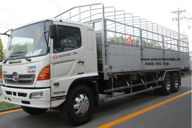 Xe tải Hino FL 16 tấn 3 chân thùng bửng nâng