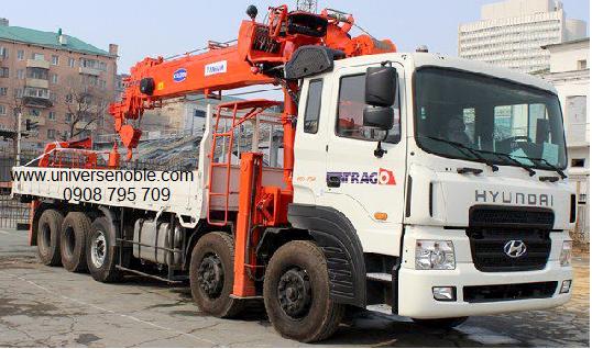 Xe tải Hyundai gắn cẩu Kanglim từ 6 tấn đến 10 tấn